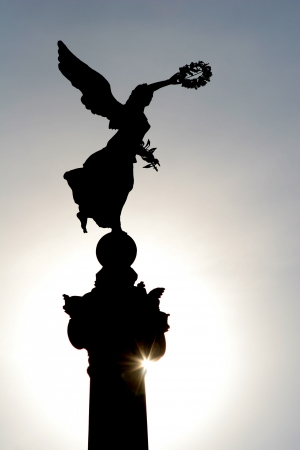 silhouette in Rome   - Vitorio Emanuelle landmark Stock Photo - 18072377