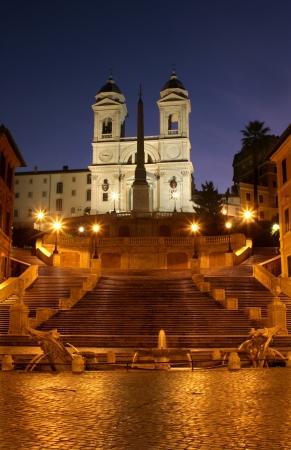 trinita: Rome - Spain stairs in morning and Chiesa della Trinita dei Monti church