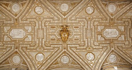 vestibule: ROME - MARCH 21  Roof of vestibule from Saint Peter s basilica on March 21, 2012 in Rome   Editorial