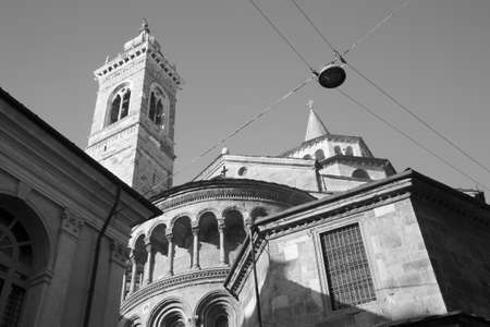 Bergamo - cathedral Santa Maria Maggiore in morning light photo