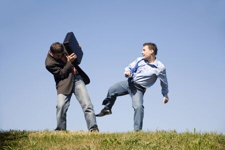 congruence: competition battle of men  Stock Photo