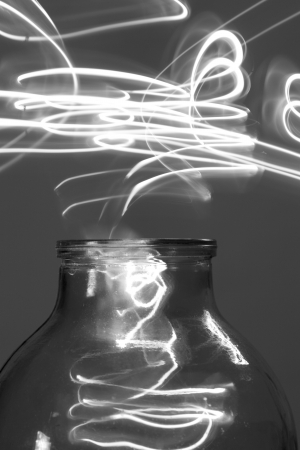 witchery: light and glass - abstract Stock Photo