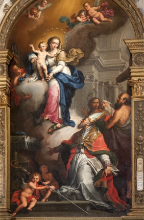 VERONA - JANUARY 27: Detail of Holy Mary from Maffei chapel in Duomo by Agostino Ugolini from year 1794 on January 27, 2013 in Verona, Italy