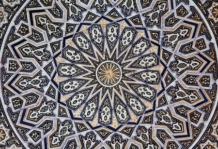 mudejar: Toledo - Detail of typical damascening plate  Traditional handicrafts make  Stock Photo