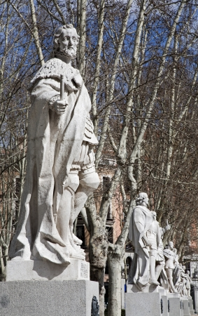 Madrid - The statues  19  cent   depict Roman, Visigoth and Christian rulers from Plaza de Oriente photo