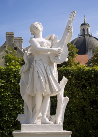 muse: Vienna - statue of muse from Belvedere palace Editorial