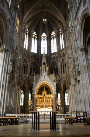 neo gothic: Vienna - presbytery of Votivkirche neo gothic church
