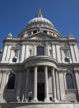christendom: London - south portal of st  Paul s cathedral Stock Photo