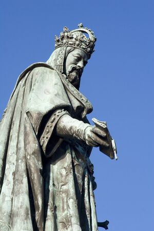 Prague - Charles IV statue  Stock Photo