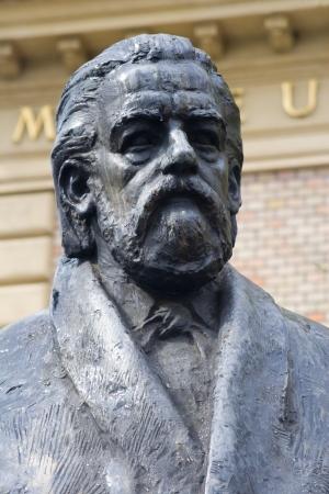 bedrich smetana - composer - statue from prague - detail