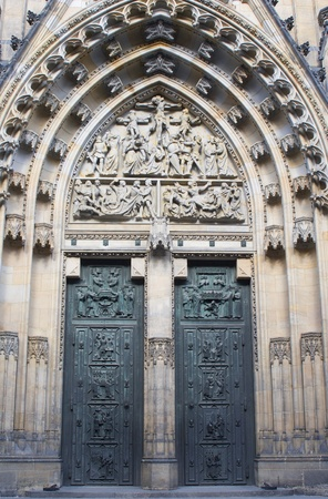 notability: portal from gothic cathedral o st  vitus in prague