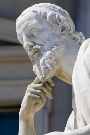 ancient philosophy: Vienna - Herodotus statue for parliament Stock Photo