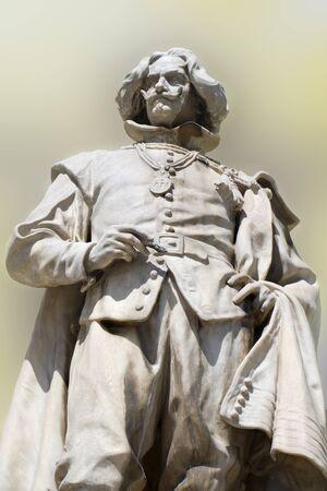 colourer: rubens statue on the facade of vienna museum  Stock Photo