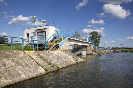 barrage: barrage on the Little Danube  - Slovakia Stock Photo