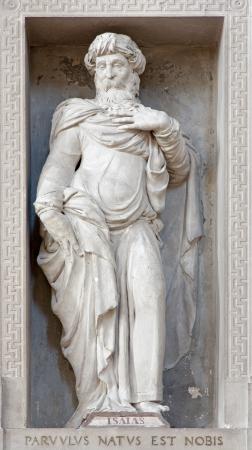 isaiah: VERONA - JANUARY 27: Statue of prophet Isaiah in San Bernardino church on January 27, 2013 in Verona, Italy.