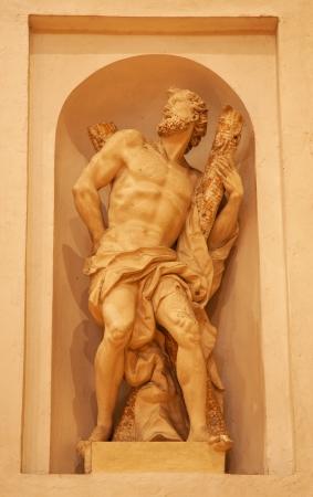 VERONA - JANUARY 28: Statue of st. Andrew from st. Nicholas church (Chiesa di San Nicolo)on January 28, 2013 in Verona, Italy.