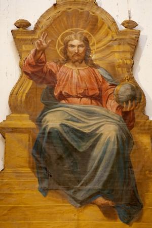 christ the king: Jesus the Pantokrator - side chapel of Il Jesu church