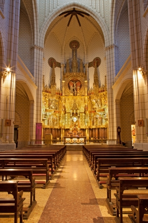 nave: MADRID - MARCH 9: Nave of church Santa cruz on March 9, 2013 in Spain. Editorial