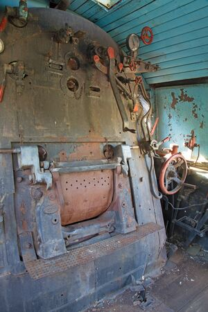addle: machine room of old locomotive