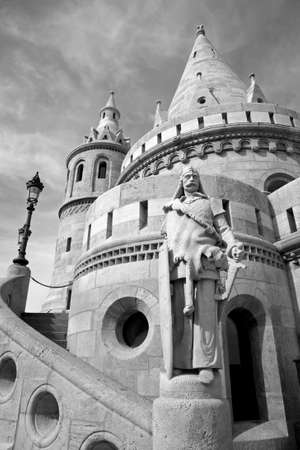 bastion: Budapest - statue and Fisher Bastion Editorial