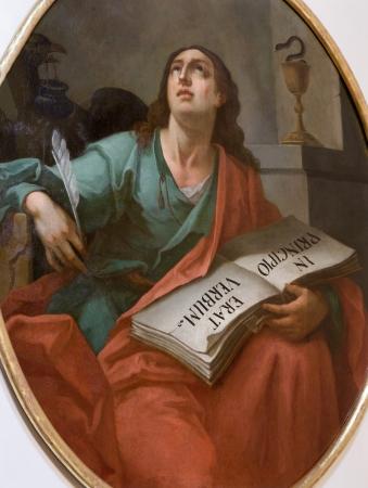 Vienna - St  John the Evangelist paint Editorial