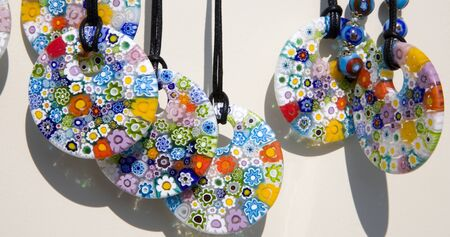 glassblower: Venice - necklet from Murano glass