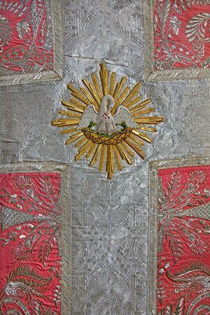 vestment: detail of old catholic vestment