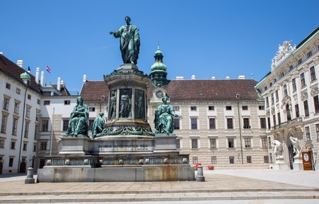 franz: Vienna - Monument to Emperor Franz I of Austria, in the Innerer Burghof in the Hofburg imperial palace by Pompeo Marchesi from years 1842 - 1846 Editorial