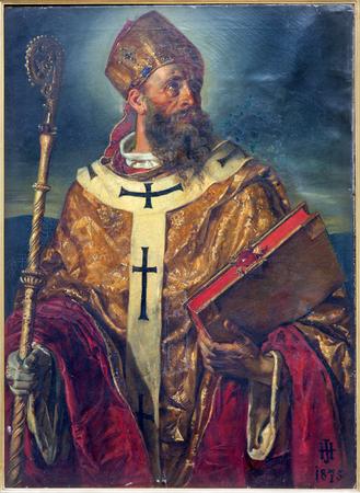 VIENNA - 3 luglio: Paint di st. Augustinus il grande maestro della chiesa di ovest a partire dall'anno 1875. cent. in Augustnierkirche o chiesa Augustinus il 3 lug 2013 Vienna. Archivio Fotografico - 23396912