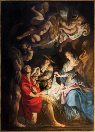 Anversa, Belgio - 5 settembre: Disegno di Presepe da da barocco grande pittore Peter Paul Rubens nella chiesa di St. Pauls (Paulskerk) il 5 Settembre 2013 ad Anversa, in Belgio Archivio Fotografico - 23397012