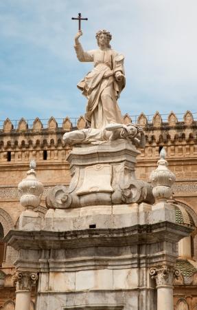 santa rosalia: Palermo -  Cathedral or Duomo and Santa Rosalia statue
