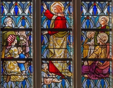 homily: LEUVEN, BELGIUM - SEPTEMBER 3  Jesus at teaching in st  Anthony church from 19  cent  on Sepetember 3, 2013 in Leuven, Belgium