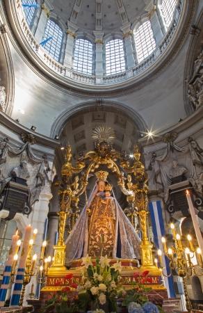 MECHELEN - SEPTEMBER 4  Traditional Virgin Mary statue in Onze-Lieve-Vrouw-va n-Hanswijkbasiliek church on September 4, 2013 in Mechelen, Belgium