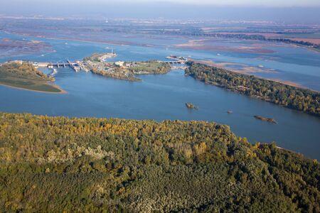 Cunovo dam on the Danube River - Slovakia Stock Photo