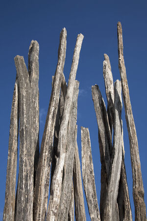 pales: old piles and sky