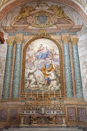 martiri: ROME - MARCH 20: Baptism of Jesus scene. Detail of modern fresco from basilica Santa Maria degli Angeli e dei Martiri on March 20, 2012 in Rome.