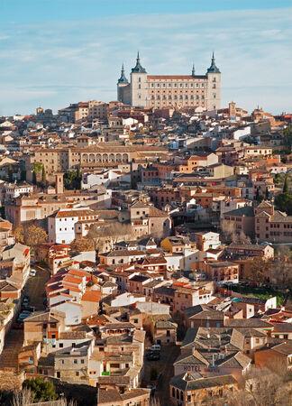 toledo town: Toledo - Alcazar and town in morning light Editorial