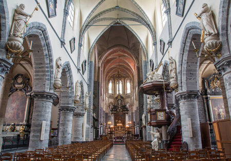 GENT - JUNE 23: Main nave of Saint Jacob s gothic church on June 23, 2012 in Gent, Belgium. Stock Photo - 24152866