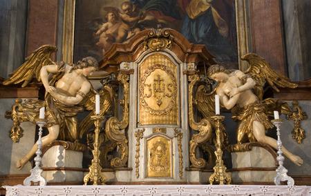 christendom: Banska Stiavnica - baroque altar from st  Katharnie church