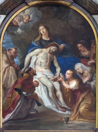 leuven: LEUVEN, BELGIUM - SEPTEMBER 3: Paint of Pieta in Sint jan de Doperkerk on September 3, 2013 in Leuven, Belgium. Editorial