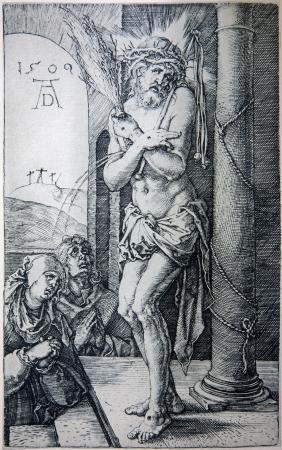 """durer: GERMANIA - 1928: Litografia di Ges� Cristo torturato da Albert Durer. Libro """"als Durer Fuhrer"""" edito da Josef Muller, Munchen, Garmany 1928. Editoriali"""