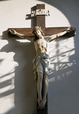 vestibule: Jesus on the cros - vestibule of church in Vienna
