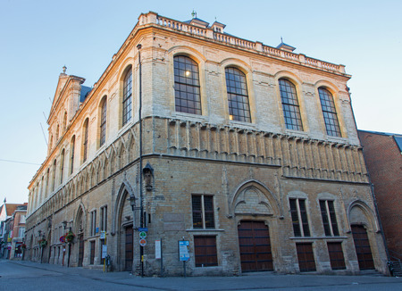 leuven: Leuven - Building of Catholic university in morning; Editorial