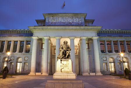 Madrid - Museo Nacional del Prado in morning dusk Editorial
