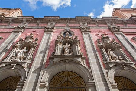 millan: MADRID, SPAIN - MARCH 10, 2013  Facade of baroque church San Millan e San Cayetano