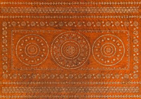 anton: SAINT ANTON, SLOVAKIA - FEBRUARY 27, 2014: Detail from flat of the ivory mosaics table from 18. cent. in palace Saint Anton.