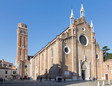 VENICE, ITALY - MARCH 12, 2014  Church Santa Maria Gloriosa dei Frari