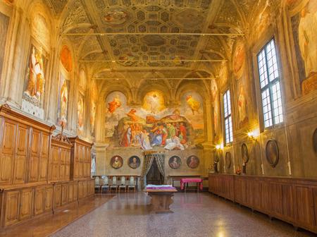 san michele: BOLOGNA, ITALY - MARCH 17, 2014: Sacristy of baroque church San Michele in Bosco. Editorial