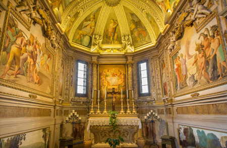bosco: BOLOGNA, ITALY - MARCH 17, 2014: Chapel in the sacristy of baroque church San Michele in Bosco.