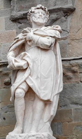 Bergamo - Statue of scribe Torquato Tasso by Giovanni Battista Vismara from year 1681
